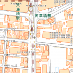 住宅地図(見本・国土地理院)