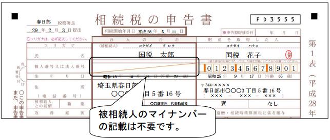 相続税の申告書(平成28年10月以降)
